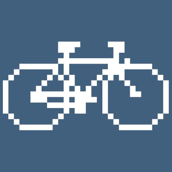 NeatoShop: Pixel Bike (White Print)