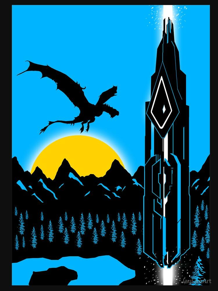 RedBubble: Ark Wyvren and Obelisk Bright Blue