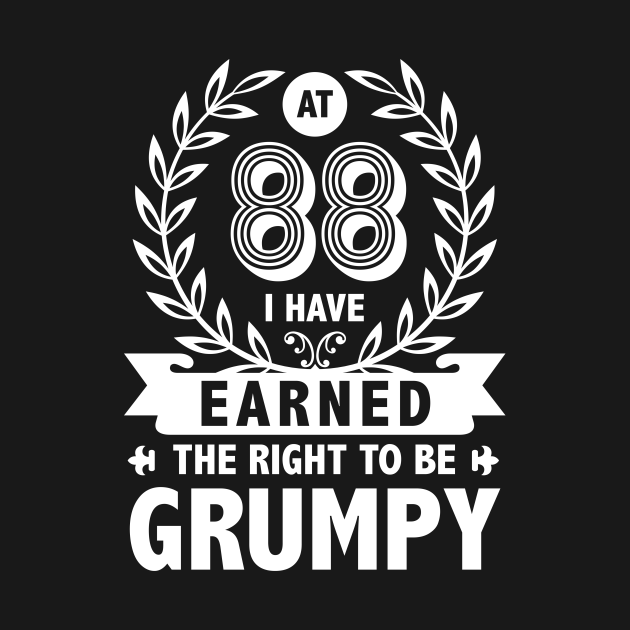 TeePublic: 88 Years Old Grumpy Funny Shirt. 88th Birthday Gifts Vintage