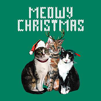 BustedTees: Meowy Christmas
