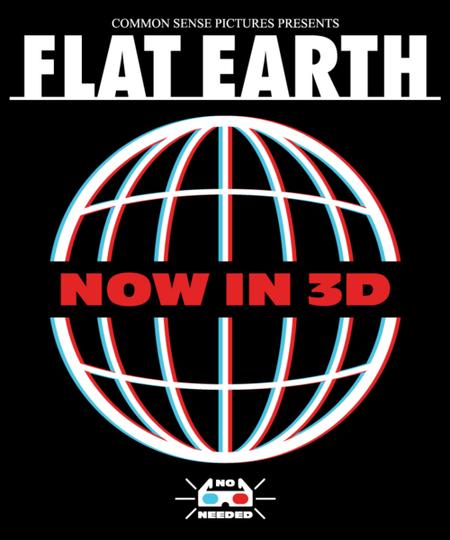 Qwertee: Flat Earth 3D