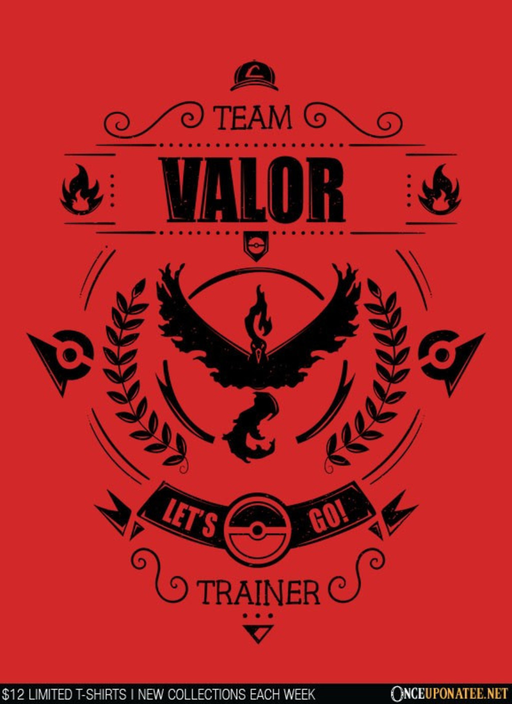 Once Upon a Tee: Team Valor (Black)