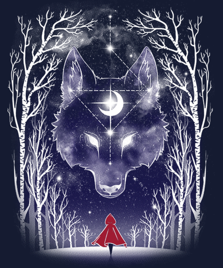 Qwertee: Starry Red Riding hood