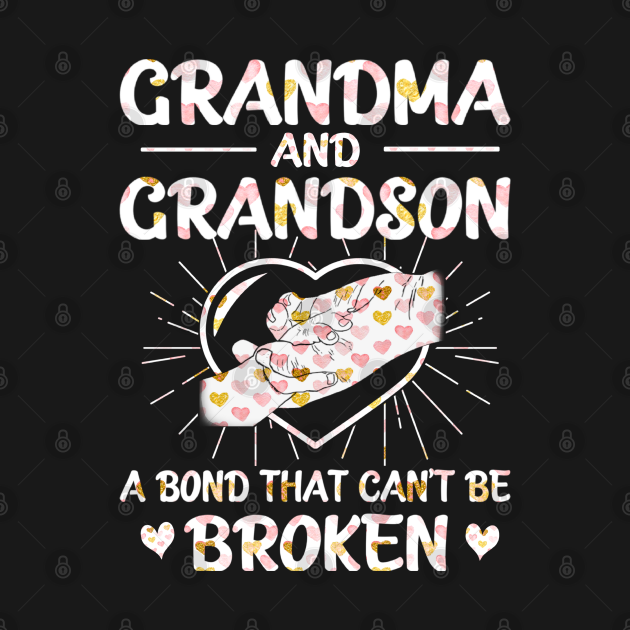 TeePublic: Grandma and grandson a bond that can't be broken