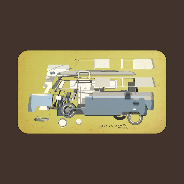 TeePublic: Exploded 67 VW Kombi