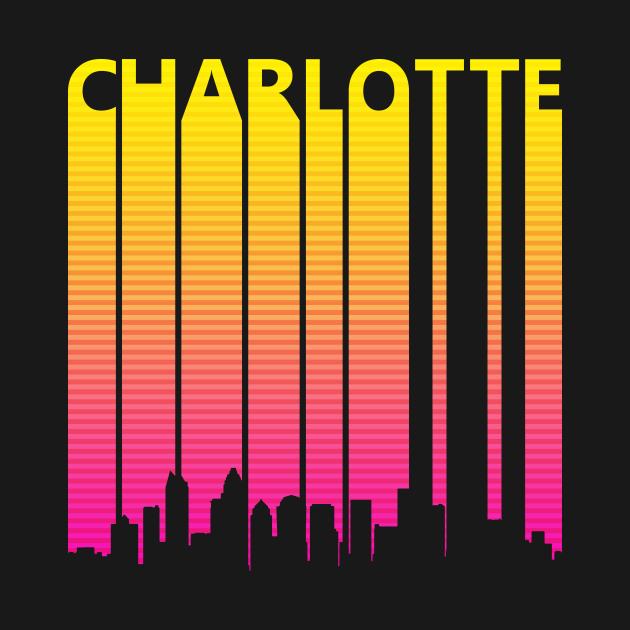 TeePublic: Retro 1980s Charlotte Skyline