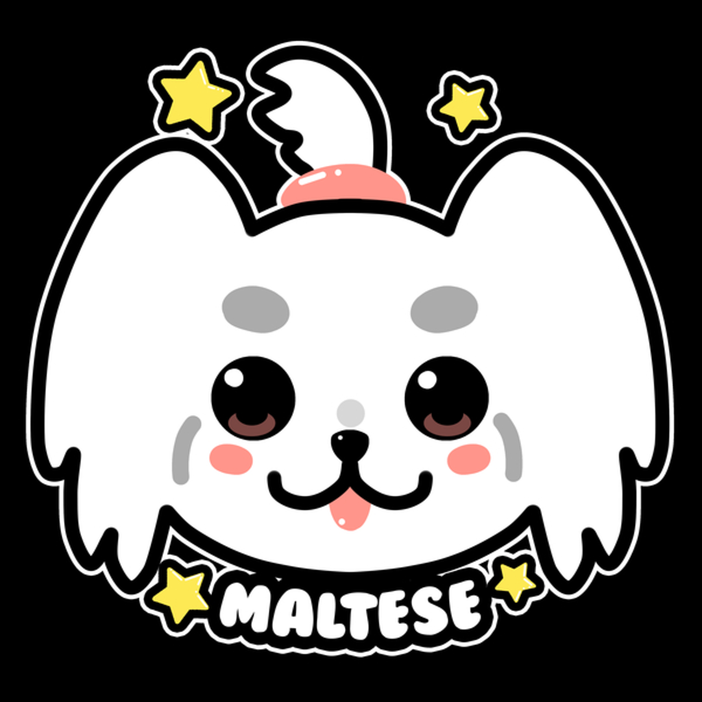 NeatoShop: KAWAII Maltese Dog Face