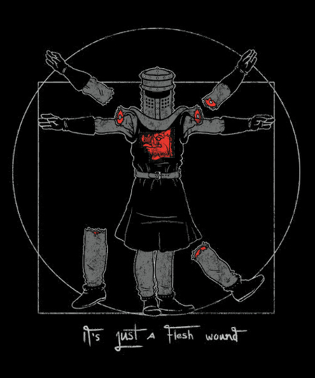 Qwertee: Vitruvian Black Knight