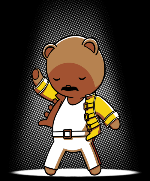 Qwertee: Teddy Mercury