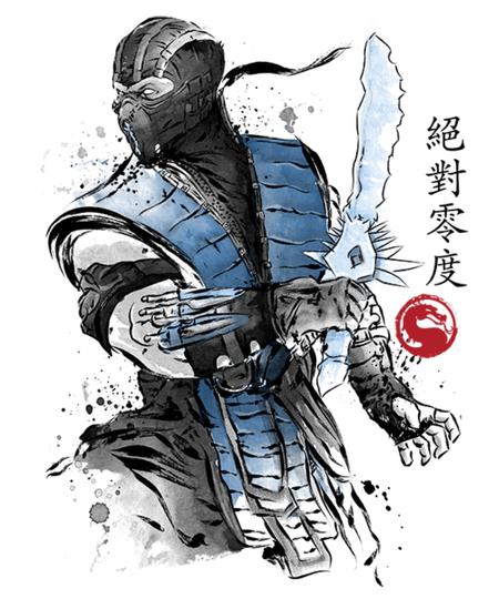 Qwertee: Ice Warrior sumi-e