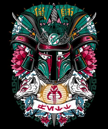 Qwertee: Bounty Hunter Samurai