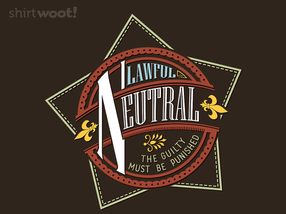 Woot!: Lawful Neutral - $8.00 + $5 standard shipping