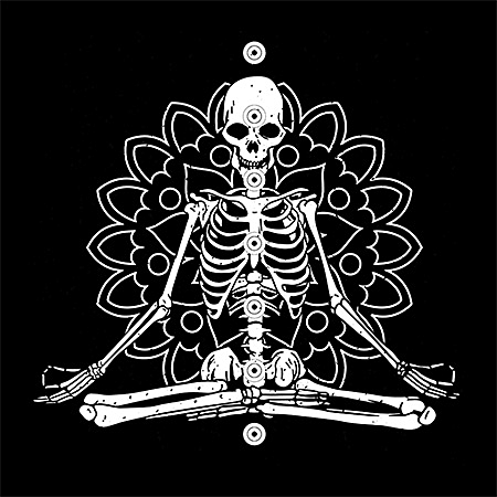 MeWicked: Skeleton Yoga Pose - Namaste