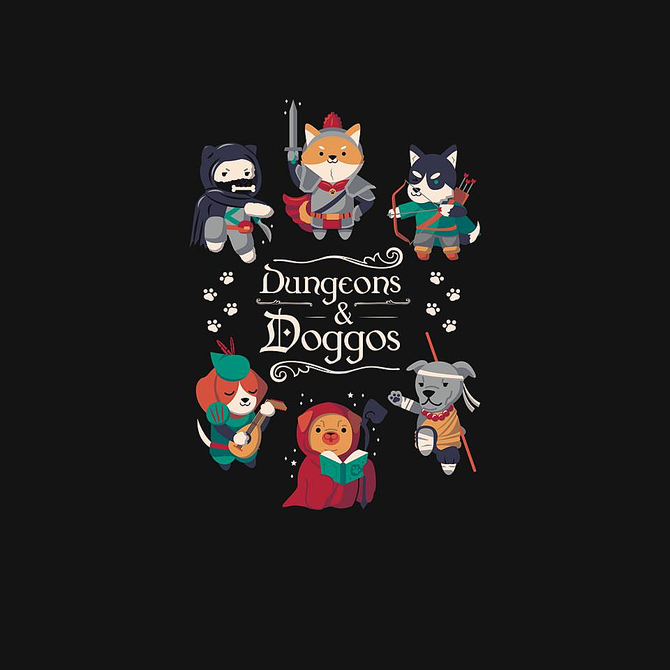 TeeFury: Dungeons & Doggos 2