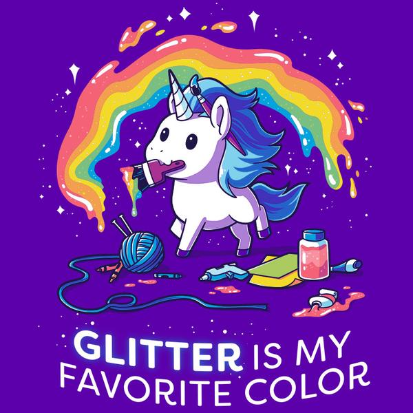 TeeTurtle: Glitter is My Favorite Color