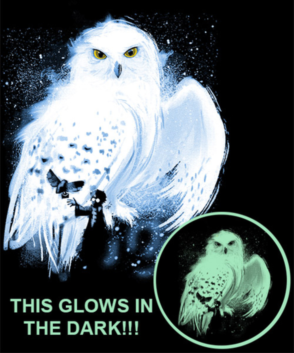 Qwertee: Mail by Owl - Glows in the Dark