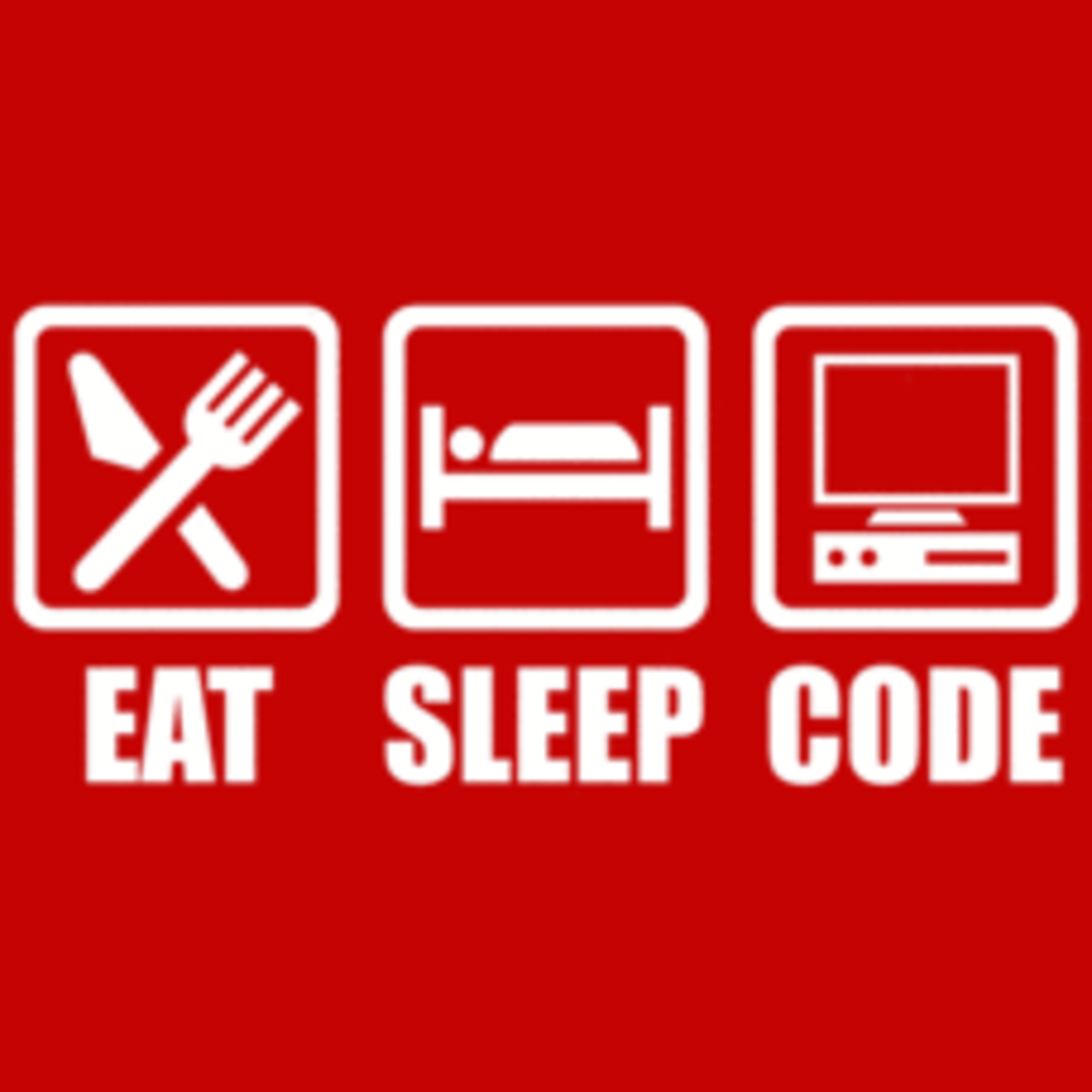 Textual Tees: Eat Sleep Code