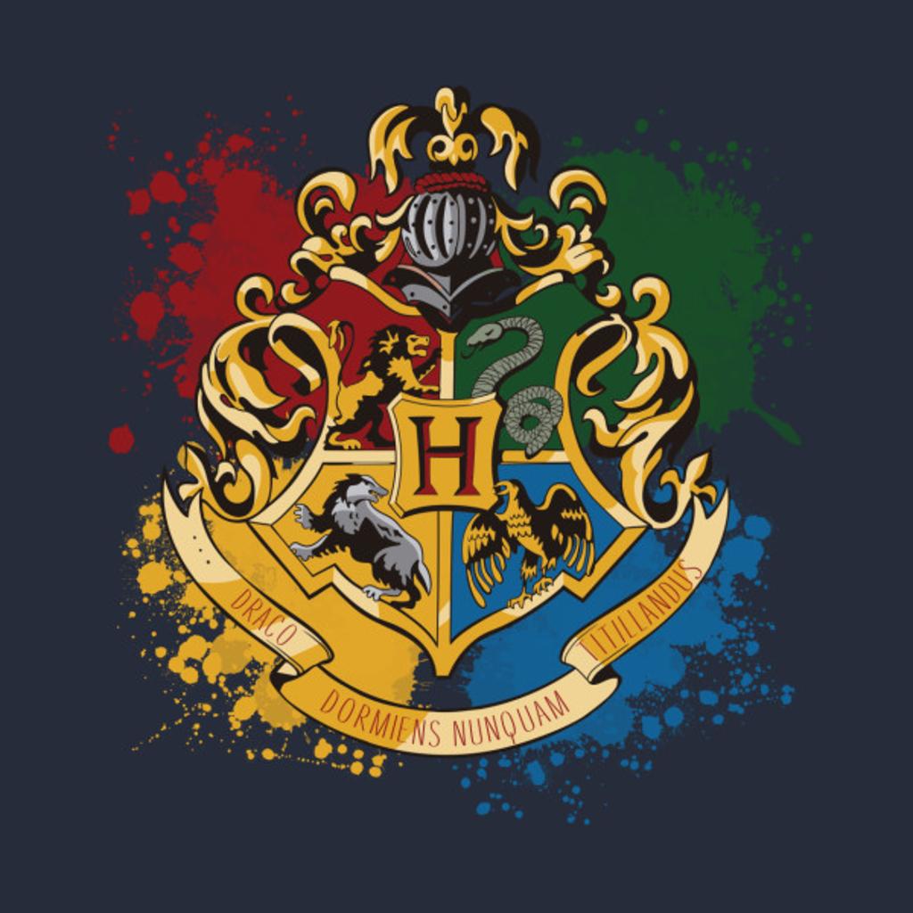 TeePublic: Hogwarts Paint