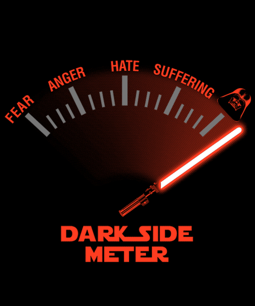 Qwertee: Dark side meter