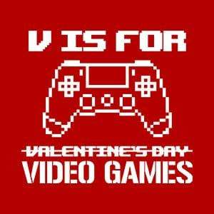 BustedTees: V Is For Video Games
