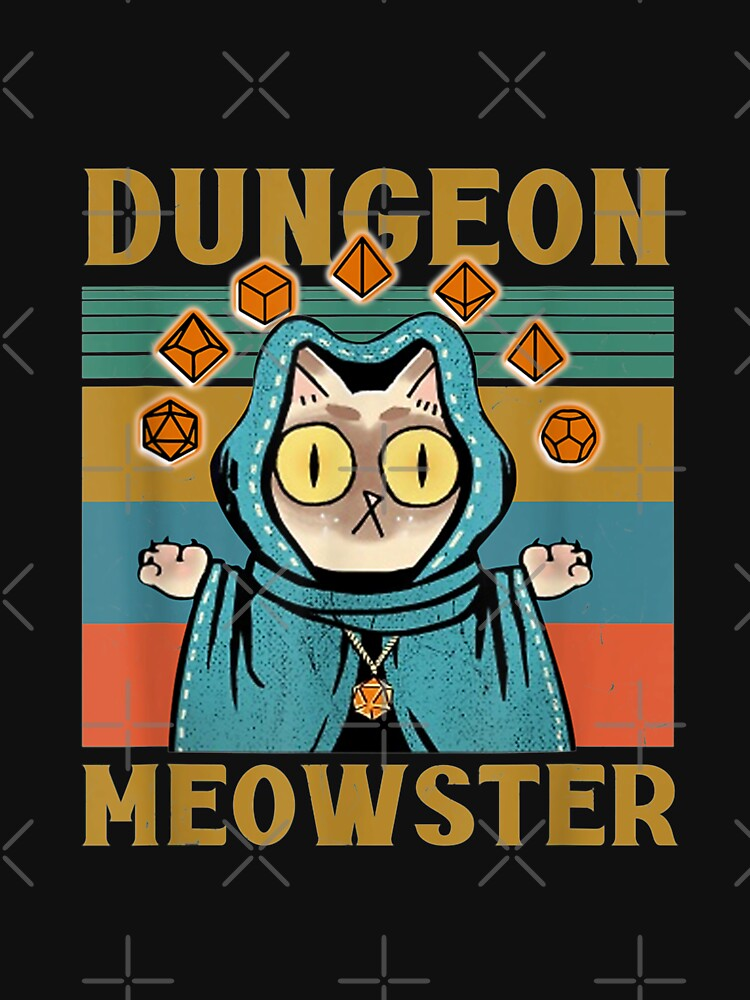 RedBubble: Dungeon Meowster Funny Nerdy-Gamer Cat-D20 Dice RPG