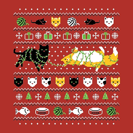 BustedTees: Crazy Cat Christmas