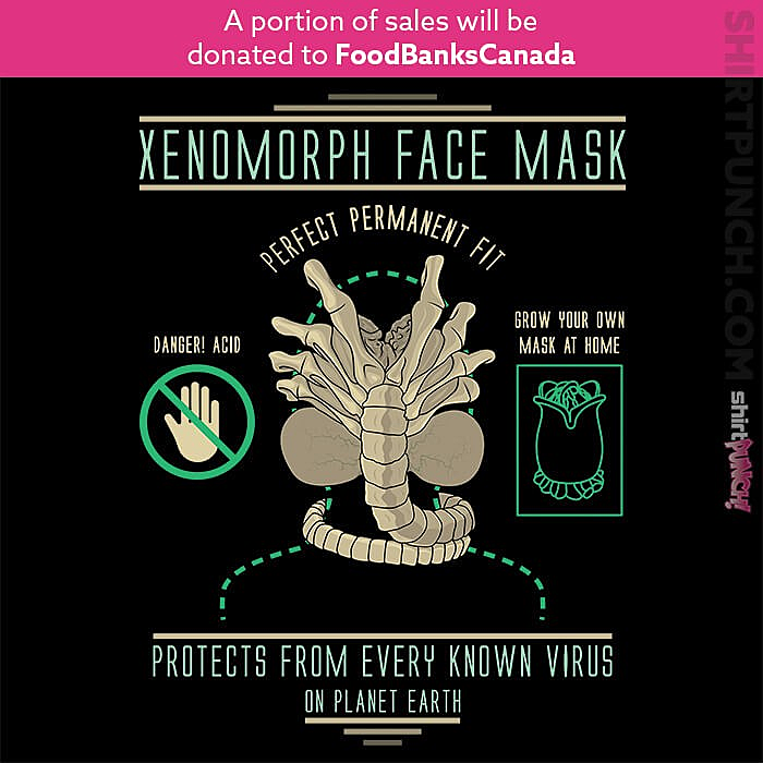 ShirtPunch: Xenomorph Face Mask
