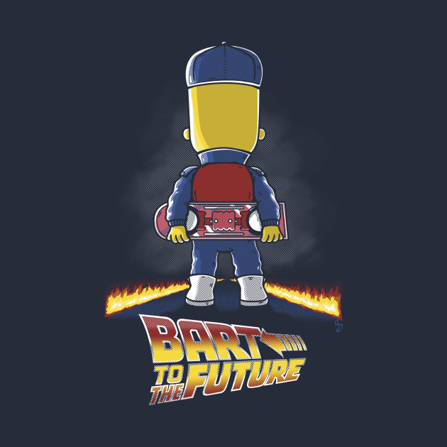 TeePublic: Bart to the Future T-Shirt