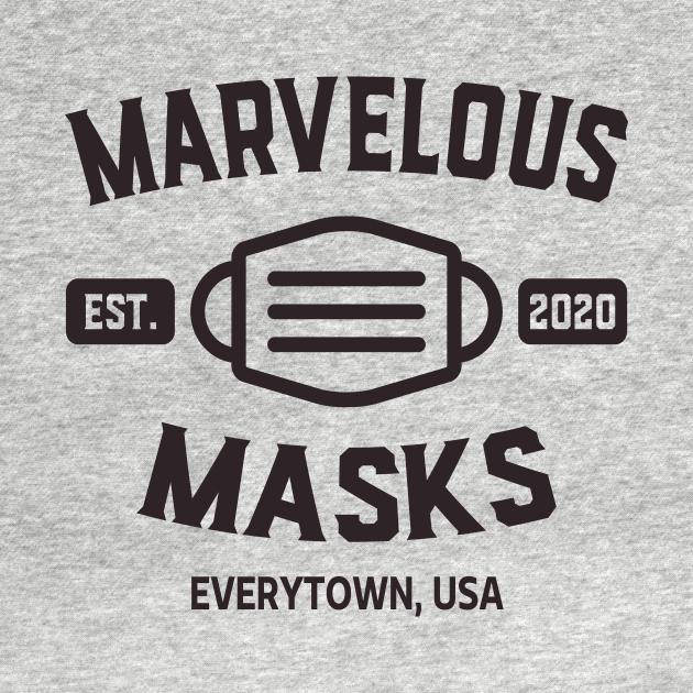 TeePublic: Marvelous Masks Stop the Spread Everytown USA
