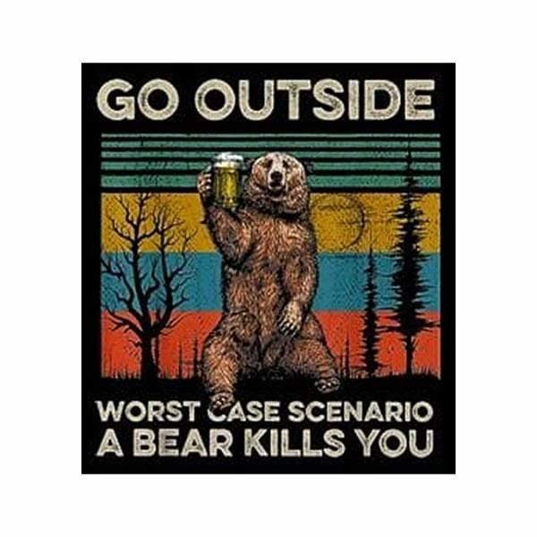 BustedTees: Go Outside Worst Case Scenario A Bear Kills You Mug