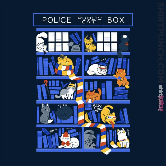 ShirtPunch: Library Box Who