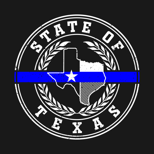 TeePublic: Texas Thin Blue Line