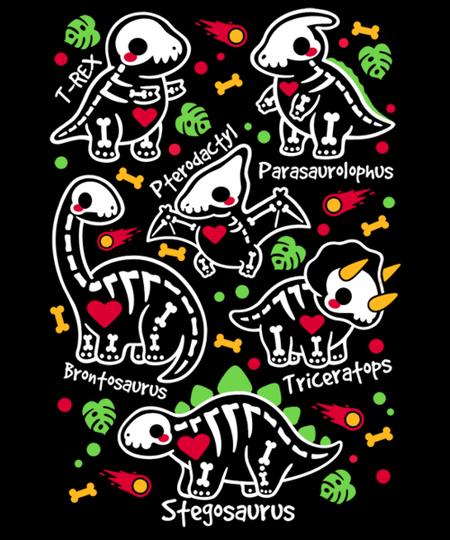 Qwertee: Dinosaur skeletons