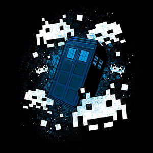 Blue Box Tees: Time and Space Invaders