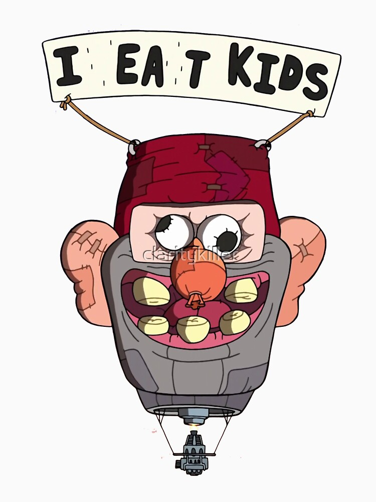 RedBubble: gravity falls i eat kids balloon