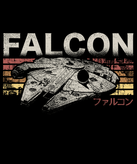 Qwertee: Retro Falcon
