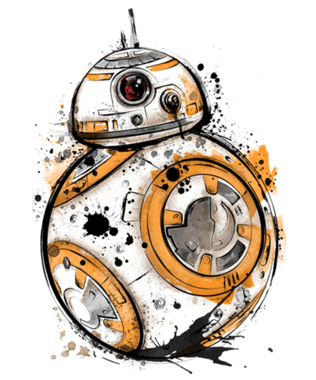 Qwertee: Astromech Droid Watercolor