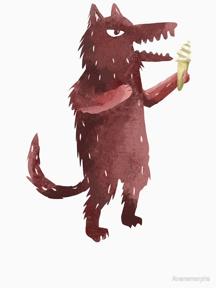 RedBubble: Wolf with Ice Cream