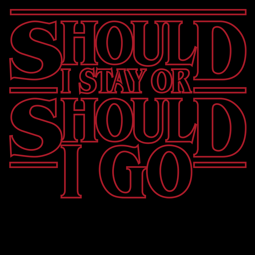 Pop-Up Tee: Should I Stay or Should I Go