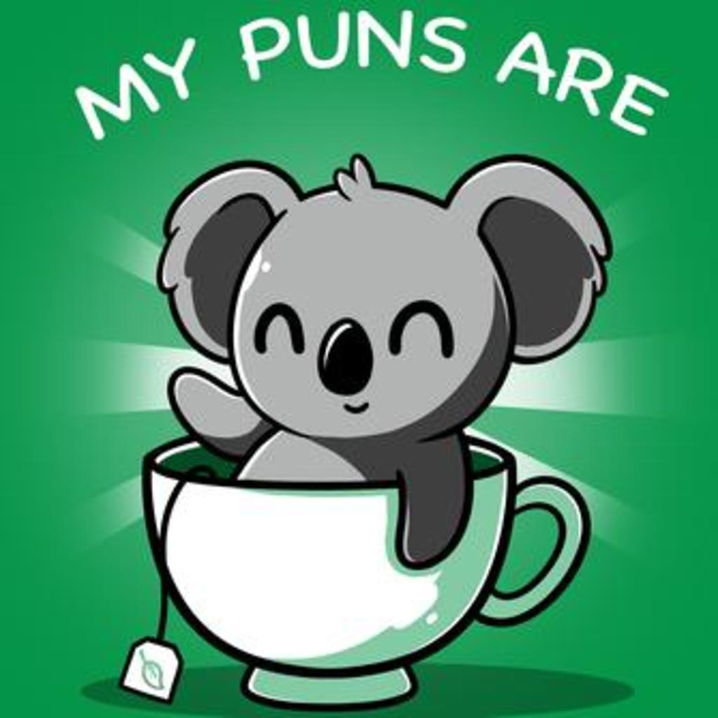 TeeTurtle: Koala Tea Puns