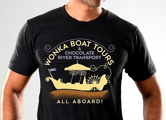 SnorgTees: Wonka Boat Tours Limited Edition Tri-Blend