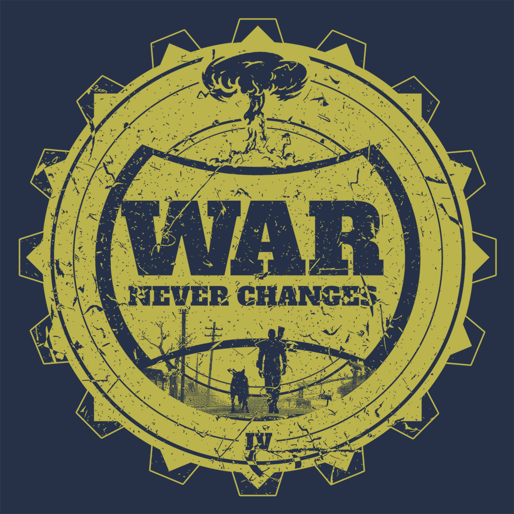 Pop-Up Tee: War Never Changes - Yellow Gear