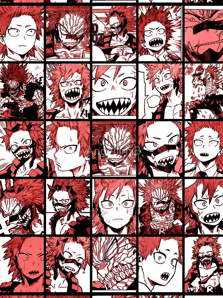 RedBubble: BNHA Kirishima collage - color version