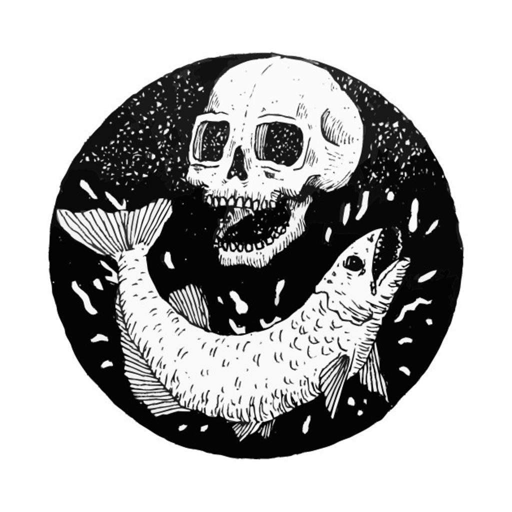 TeePublic: Monster Salmon Fish