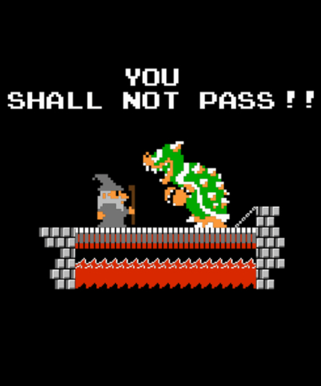 Qwertee: YOU SHALL NOT PASS