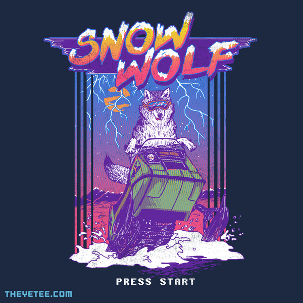 The Yetee: Snow Wolf
