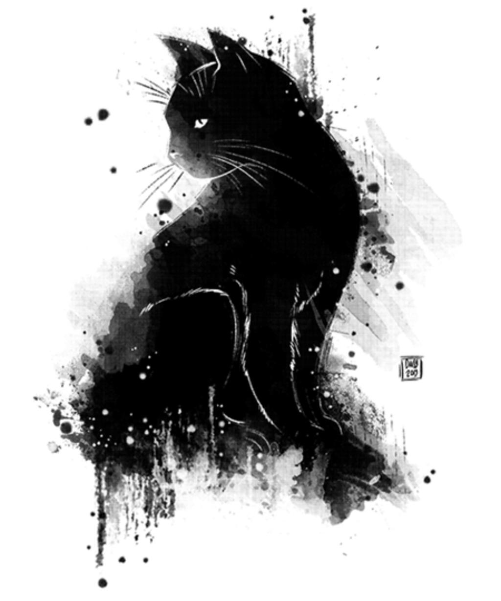 Qwertee: Inky cat
