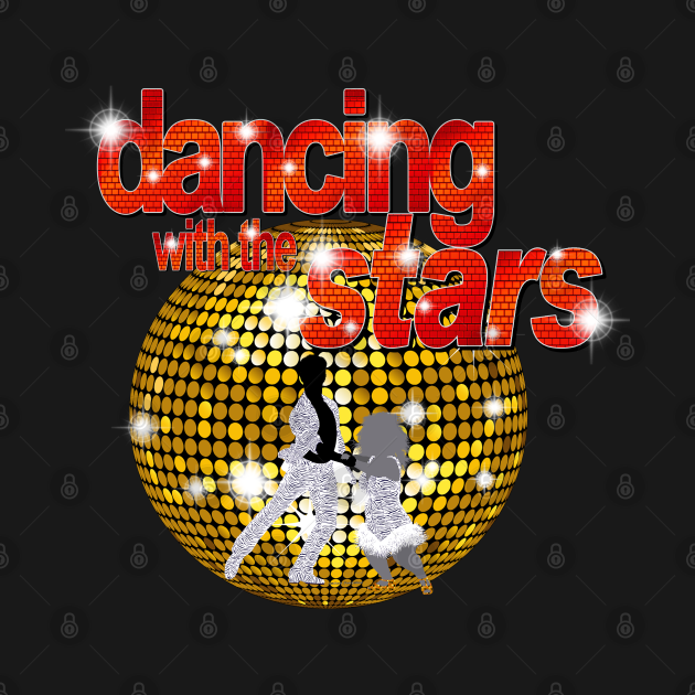 TeePublic: Dancing with the Stars Disco ball Dancers silhouette 3