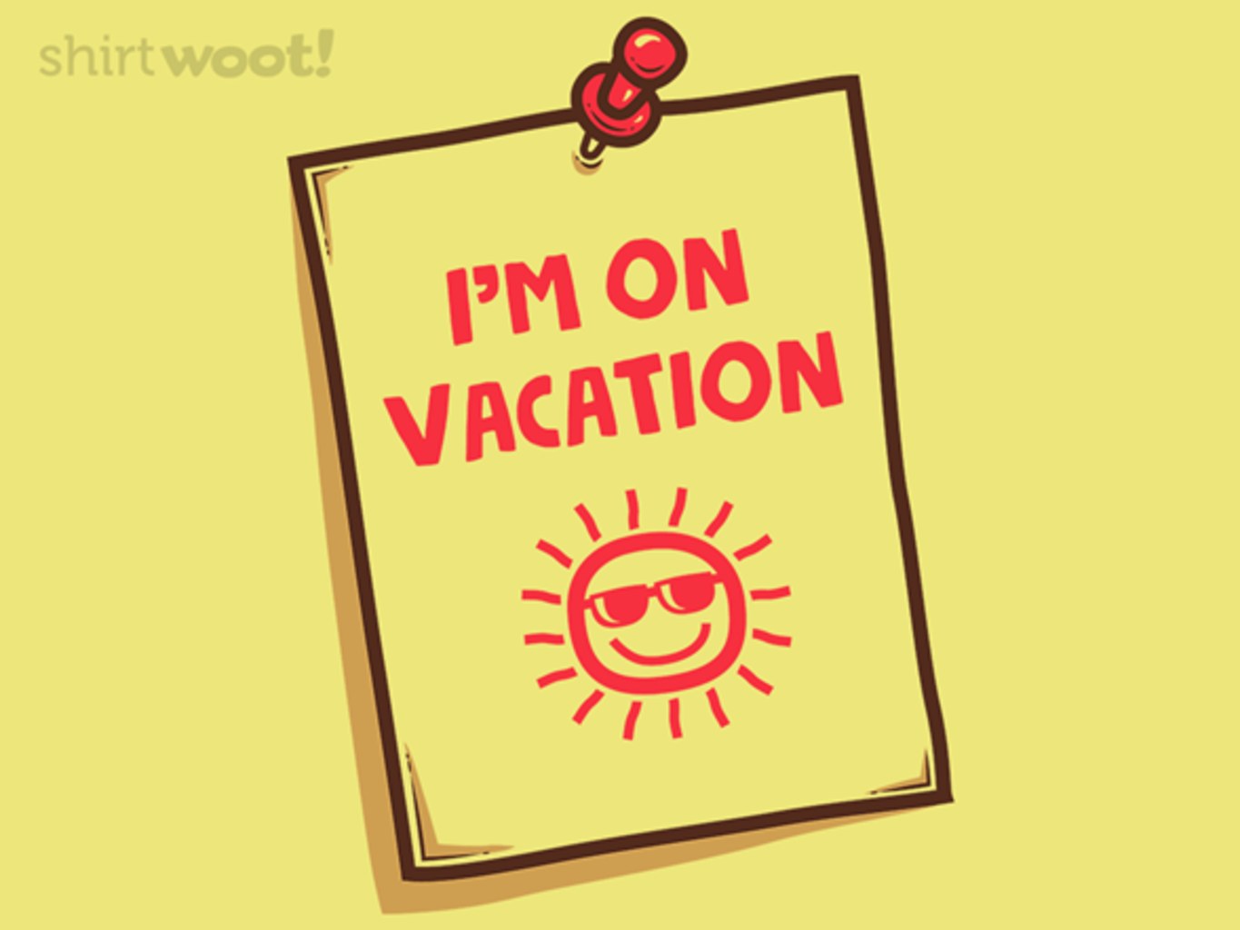Woot!: Vacation Memo - $8.00 + $5 standard shipping
