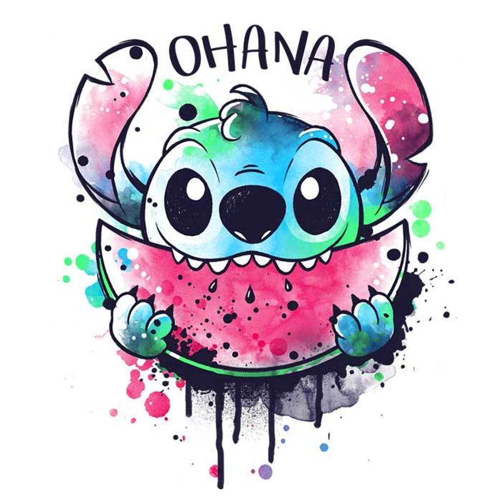 Once Upon a Tee: Ohana Watercolormelon